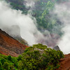 Clouds Breaking Up On The Top Of The Canyon - Waimea Canyon State Park, West Side, Kauai
