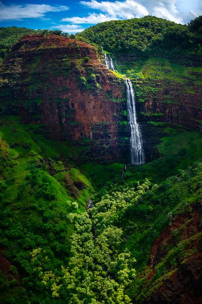 Cascading Steps Down The Cliff Face - Waimea Canyon, Kauai, Hawaii