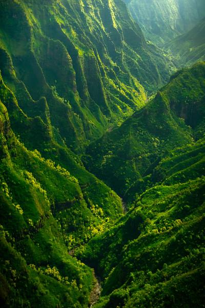 Side Light Bouncing Off Canyon Walls - Waimea Canyon, Kauai, Hawaii