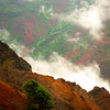 Hanging On The Cliff By A Thread - Waimea Canyon State Park, West Side, Kauai