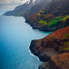 Rainbow Of Colors Looking Down Na Pali Coast - Na Pali Coastline, Kauai, Hawaii