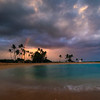 Sunset Rainbow Over Salt Pond Park - Salt Pond Beach Park, South Kauai, Hawaii