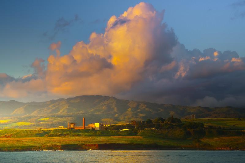 Sunset Light Showcase The Hills Of Kauai - Na Pali Coastline, Kauai, Hawaii