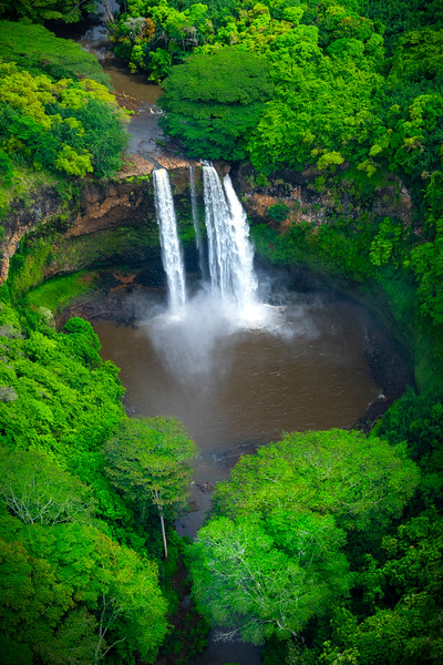 The Circle Of Elements - Wailua Falls, Kauai, Hawaii