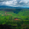 Pano of Valley Beneath The Waimea Canyon - Waimea Valley, Kauai, Hawaii