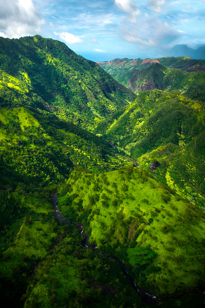Looking Upwards Into The Higher Valley - Waimea Canyon, Kauai, Hawaii