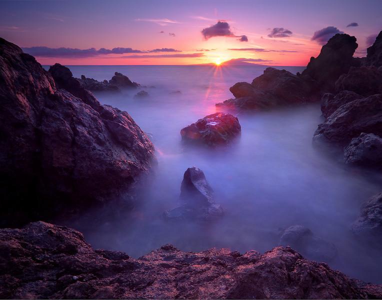 Sunburst Over Wailea Point, Maui, Hawaii