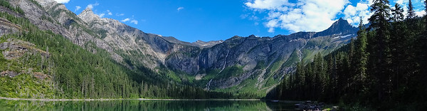 Avalanche  lake mountain panorama