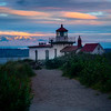 Pathway Of Light Into Sunrise - West Point Lighthouse, Discover Park, Seattle, WA