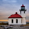 Alki Point Lighthouse In Late Light