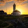 Sunstar Through Point Wilson Lighthouse - Point Wilson Lighthouse, Fort Worden State Park, WA