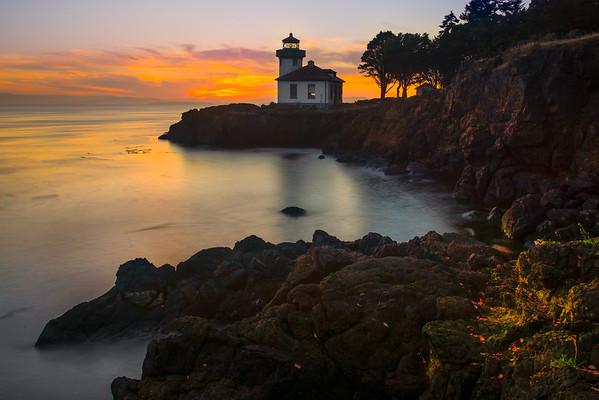 The Silent Cove - Lime Kiln Lighthouse - Friday Harbor, San Juan Islands, WA