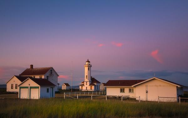 Point Wilson Lighthouse Under The Twilight Sky