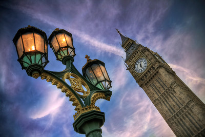 Street Lights Under Big Ben
