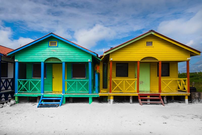 All Different Colors Along The Beach - Mahahual Beach,  Quintana Roo, Mexico