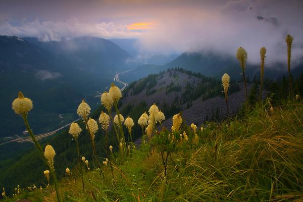 Sunset Poking Thru On Bandera Mountain - Bandera Mountain Trail, Alpine Lakes Wilderness, WA