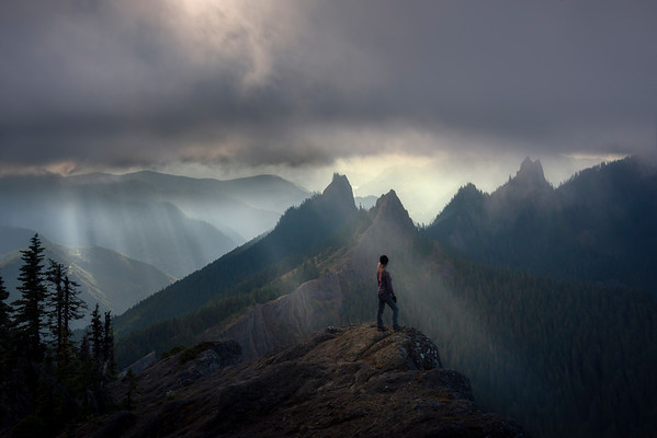 Looking Into The Peaks - Mount Rainier National Park, WA