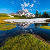 Mt Rainer Reflections And Clouds - Spray Park,  Mount Rainier National Park, Washington