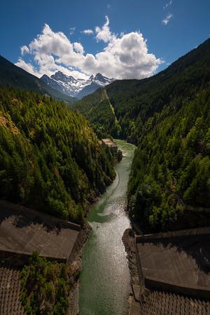 The Ross Dam Bridge Lookout - Ross Dam Bridge, - Diablo Lake Viewpoint, North Cascades National Park, WA