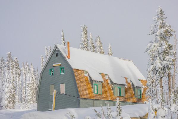 Cabin In Snow At Paradise - Paradise Area, Mount Rainier National Park, WA