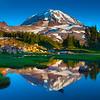 Pond Reflections Of Mount Rainier - Spray Park, Mount Rainier National Park, WA