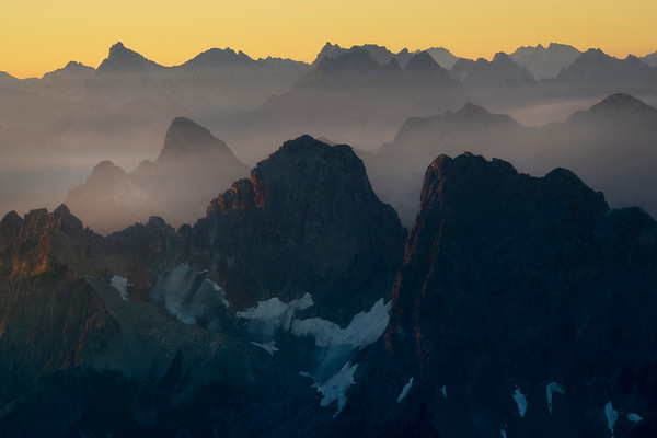 Cascades And Mist Before Sunrise