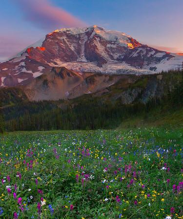 From The Back Of Mount Rainier - Mystic Lake, Mount Rainier National Park, WA