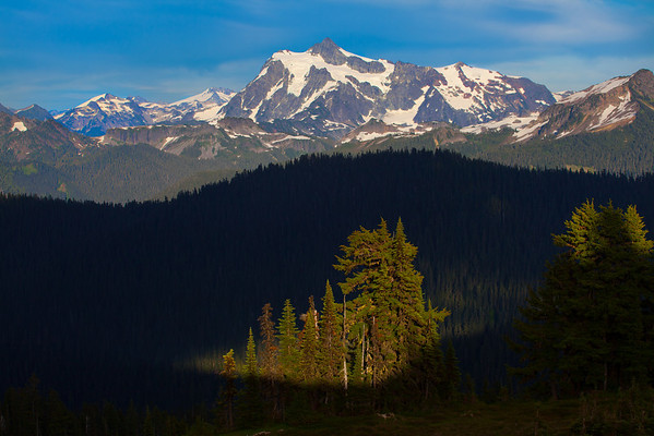 Spotlight - Skyline Divide, Mount Baker, North Cascades National Park, WA