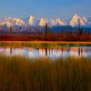 The Alaska Surrounding Peaks Of Denali - Denali National Park, Alaska