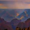 Monsoon Rain Over The Grand Canyon - North Rim, Grand Canyon Nat Park, Arizona