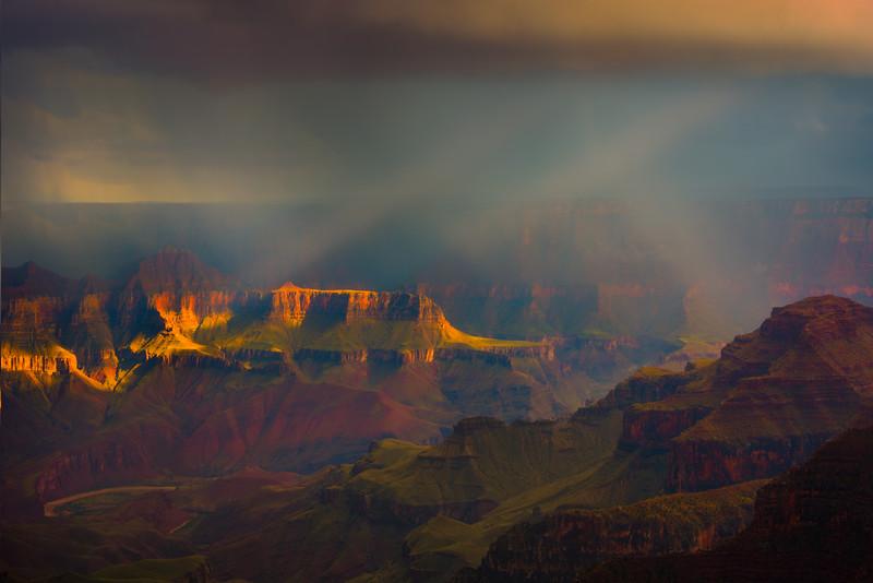 The Textures And Colors Of The Canyon - North Rim, Grand Canyon Nat Park, Arizona
