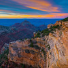 Morning Sunrise From The North Rim - North Rim, Grand Canyon Nat Park, Arizona
