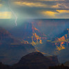 Sun Breaking Through The Monsoon_Vertical - North Rim, Grand Canyon Nat Park, Arizona