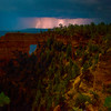 Hole In The Wall Under Lightning - North Rim, Grand Canyon Nat Park, Arizona