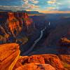 Overlook At Toroweap At Sunset - Toroweap Overlook, Grand Canyon Nat Park, Arizona