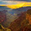 Looking Down The Valley From Wotans Throne - North Rim, Grand Canyon Nat Park, Arizona