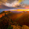 Sunset Streaks At End Of Storm - North Rim, Grand Canyon Nat Park, Arizona
