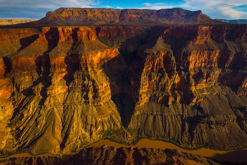 Looking Down At The Colorado River and the Grand Canyon - Toroweap Overlook, Grand Canyon Nat Park, Arizona