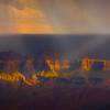 Rain Cloud Over The Crown - North Rim, Grand Canyon Nat Park, Arizona