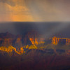 Rain Cloud Over The Crown - North Rim, Grand Canyon Nat Park, Arizona