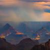 Rain Down Pour And Sunset Color - North Rim, Grand Canyon Nat Park, Arizona