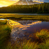 Sunset Glow On Mount Rainier From Reflection Lakes
