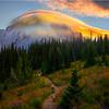Lenticular Cloud Walking Back On Trail