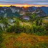 Looking At Tatoosh Range From Plummer Peak Pinnacle Peak Trail, Plummer Peak, Mt Rainier National Park, WA