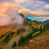 Pinnacle Peak Immersed In Pink Clouds Pinnacle Peak Trail, Plummer Peak, Mt Rainier National Park, WA