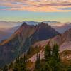 Pinnacle View Of Peaks Pinnacle Peak Trail, Plummer Peak, Mt Rainier National Park, WA