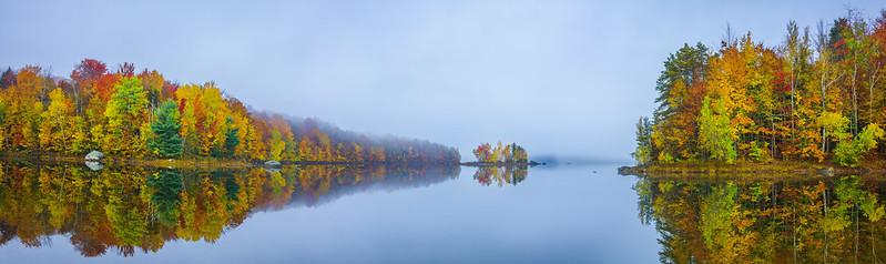 Foggy Morning On The Reservoir_Pano