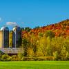 Autumn Life On The Vermont Barn_Pano