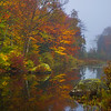 Full Color Peak In Vermont Lake