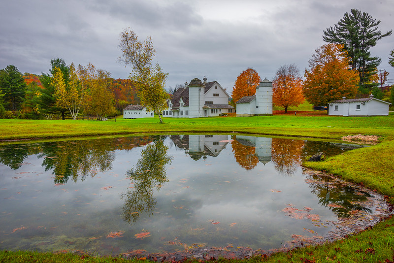 Reflections Of A Vermont Farm In Pond